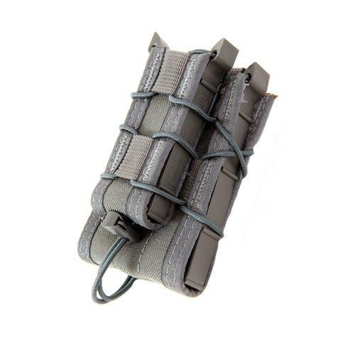 High Speed Gear Belt Mounted Double Decker TACO Rifle/Pistol Mag Pouch Wolf Gray ()