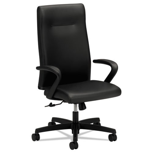 HON Ignition Series Executive High-Back Chair, Black Leather