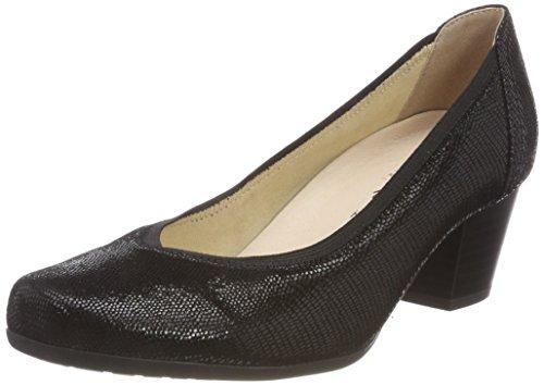 Negro 10 Tacón De Mujer Zapatos 22301 black Caprice Reptile Para WfZC114