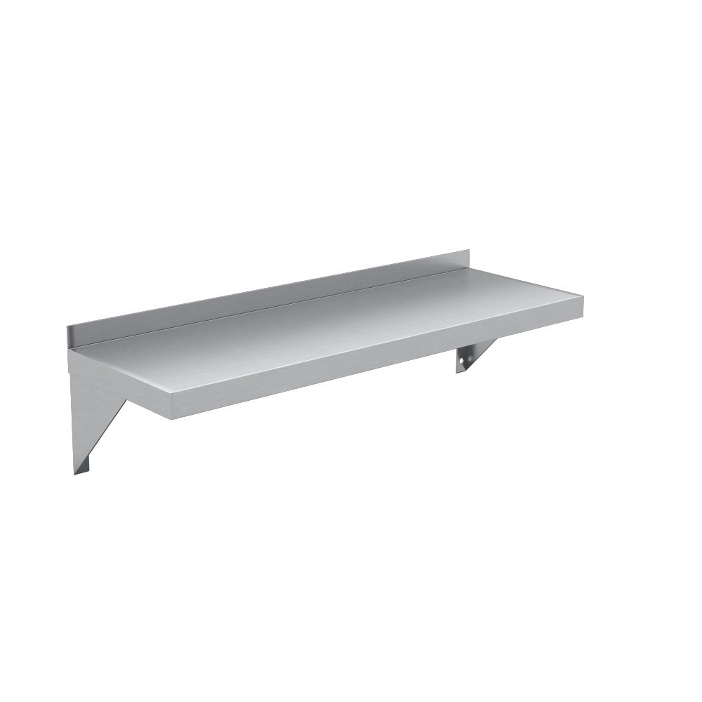 Elkay Professional Series NSF Stainless Steel Wall Shelf with Backsplash without Mounting Hardware, 24'' x 12'' by Elkay Foodservice (Image #4)