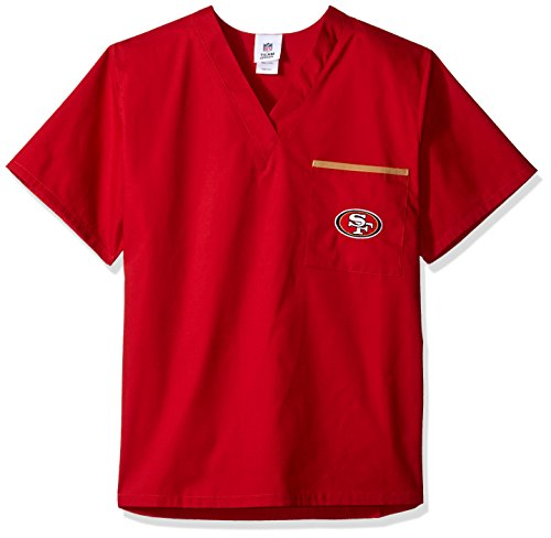 NFL Scrub Dudz Solid Scrub Top, San Francisco