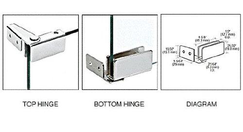 CRL Chrome Recess Mount Glass Door Hinges - Package ()