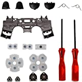 PS4 Accessories, Timorn Replacement Parts Trigger Buttons Parts with Springs+ Rubber Conductive Pad + Inner Frame…