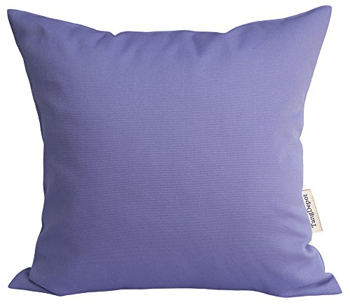 TangDepot Handmade Decorative Solid 100% Cotton Canvas Throw Pillow Covers/Pillow Shams, (12x12, Violet)
