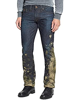 Men's RICKY RELAXED STRAIGHT HALF & HALF JEANS (Brid Hitchhikers Trail) - 42
