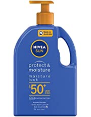 NIVEA SUN Protect & Moisturising 4 Hour Water Resistant Sunscreen Lotion. Made in Australia with Vitamin E & Panthenol, SPF50+ 1L