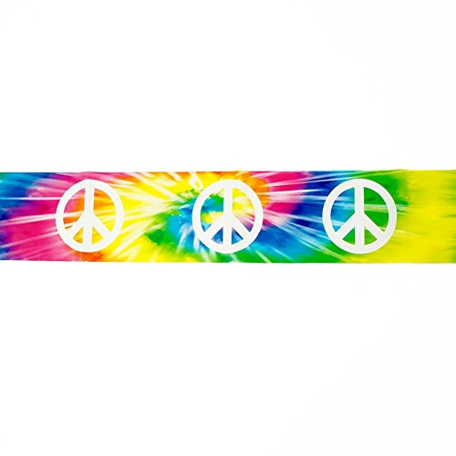 Tie Dye Peace Sign Caution Tape - Peace Sign Party Tape