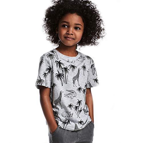 Dear Duck (Toldder Baby Boy T-Shirt, Short Sleeve O-Neck Basic Top 18M-7Y, Fashion Style Animal Print Blouse for Little Kid)
