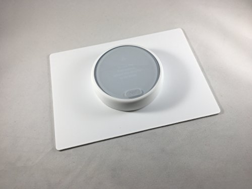 Decorative Rectangle E - Nest Thermostat Wall Plate - WHITE (Thermostat Accessories)
