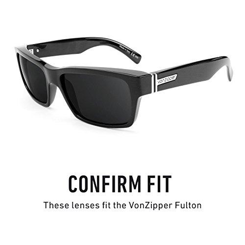 Verres de rechange pour Von Zipper Fulton — Plusieurs options Polarisés Elite Marron Foncé