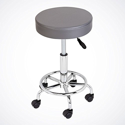 Grey Hydraulic Swivel Salon Stool Facial Massage Beauty Doctor Dentist Office