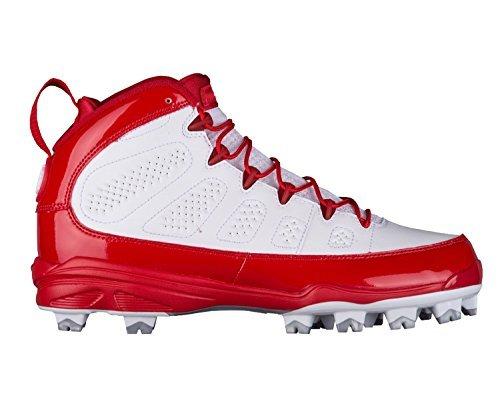 NIKE Men's Air Jordan IX Retro MCS Baseball Cleat Red/White (10.5 D(M) (Retro Air)