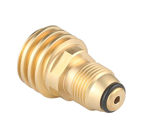 Propane Adapter Fittings - KIBOW Universal Propane Tank Adapter for Old P.O.L Style to New Style/100% Solid Brass