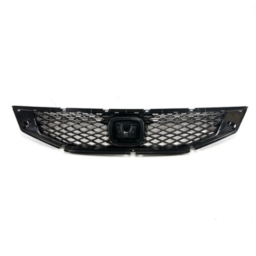 Grille Coupe - CarPartsDepot, Grille Mesh Raw Matte Black Panel Without Chrome Molding Coupe 2-Dr, 400-201268 HO1200192 71121TE0A01