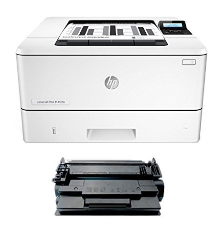 Renewable Toner M402N MICR Check Printer Package: LaserJet M402N Printer and 1 RT 26A CF226A MICR Toner Cartridge