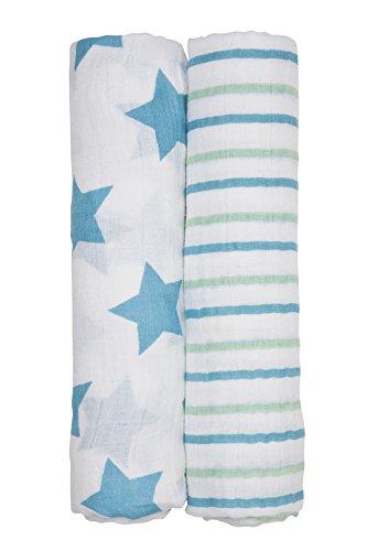 Lässig Baby Swaddle Burp Blankets Cloth Soft 100% Cotton ...