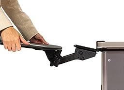3M Tool Free Installation Knob Adjust Keyboard Tray, Standard Platform, Gel Wrist Rest, Precise Mouse Pad, Black