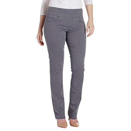 - Jag Jeans Women's Peri Straight Pull on Pant, Grey Streak Twill, 12