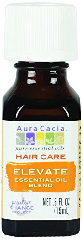 Aura Pure Daily Shampoo - Aura Cacia Elevate Hair Care Essential Oil Blend, 0.5 Fluid Ounce