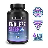 ZEN•ZEI | ENDLEZZ SLEEP - Complejo para Dormir 100% Natural — Formulado para: Sueño Reparador, Tranquilo y Profundo — Induce • Regula • Restaura — Con Melatonina, Magnesio, 5-HTP, GABA, Reishi y Mucuna Pruriens — Científicamente Formulado (Suplemento Inteligente)