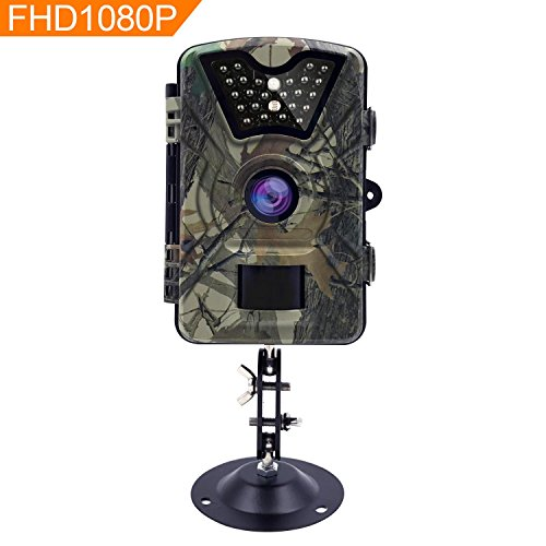 (AIQiu Trail Game Camera, Waterproof 1080P 12MP HD Deer Hunting Camera 65ft Infrared Night Vision Motion Activated Scouting Surveillance Cam with 0.5s Trigger Speed, Time Lapse, 940nm IR LEDs)