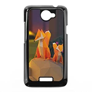 HTC One X Cell Phone Case Black Two Fox Illust Art 3d Anima GY9278653
