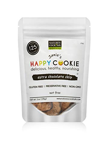 """Nature's Cocktail –""""Janies Happy Cookie"""" Cookies (Chocolate Chip, Single Serving Size)"""
