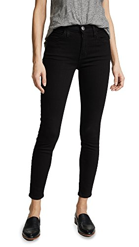 Current/Elliott Women's The High Waist Stiletto Jeans, Jet Black, 27