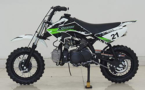 HML MOTO Kids Youth Gas 90cc Air Cooled 3 Speed semi-Automatic Transmission Kick Start Dirt Pit Bikes Motorcycle ()