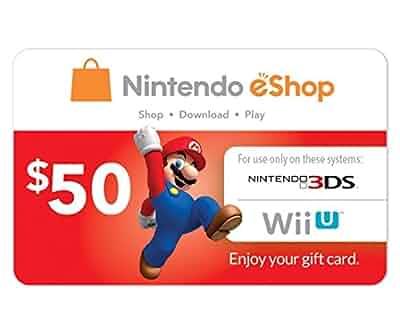 Amazon.com: Nintendo Eshop Prepaid Card $50 for 3ds or Wii