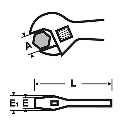 Cl/é molette 6 pouces mors extra fins R/éf 017047 VIRAX