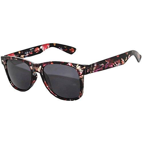 Vintage Lens Sunglasses Retro 80's Flower Frame OWL.