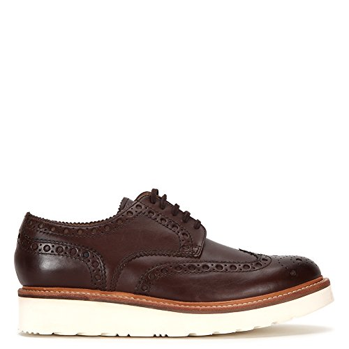 Grenson Mens Archie In Pelle Brogue Larga 5067-235v Brown Sz 10,5 G (uk)