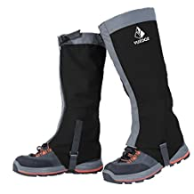 YUEDGE Unisex Sealed Velcro Zippered Closure Water Proof High Leg Gaiters Essential for Outdoor Fishing,Research,Hunting Trimming Grass