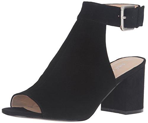 Nine West Women's Justdance Suede Dress Sandal, Black, 7 M US