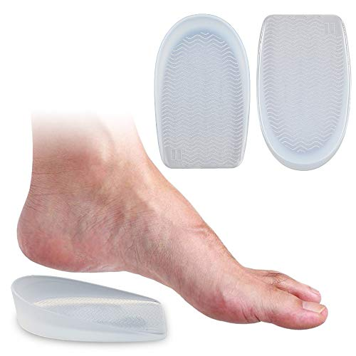 Skyfoot's Silicone Gel Non-Slip Heel Cups Protector,Heel Cushion Insoles,for Plantar Fasciitis,Bone Spurs,Heel Pain Relief,Shock Absorption, for Kids & Women & Men (1 Pair) (L)