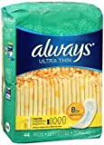 Always Ultra Thin Pads Regular - 6pks of 44, Pack of 5