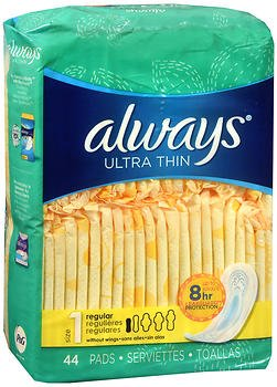 Always Ultra Thin Pads Regular - 6pks of 44, Pack of 5 by Always