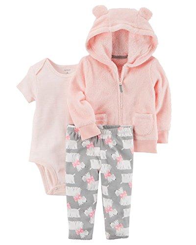 Hood Jacket Set - Carter's Baby Girls' 3-24 Months 3 Piece Little Jacket Set 6 Months
