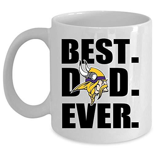 Best Dad Ever Coffee Mug, Minnesota Vikings Logo Cup for Coffee, Ceramic Mug For Home, Office (Coffee Mug 15 Oz - WHITE)