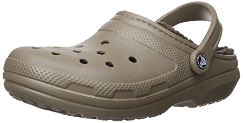 Crocs Unisex Classic Lined Clog,Walnut/Espresso,8 US Men / 10 US Women