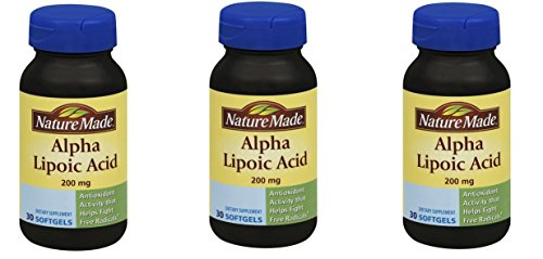 Nature Made Alpha Lipoic Acid 200 Mg (Pack of 3) by Nature Made