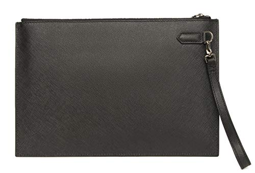TERSE Men's Leather Wallet Clutch Purse Long Wallet Phone Case With Card Cash Holder - Italian Calfskin by TERSE