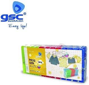 GSC Evolution Pack 24 Pinzas para Ropa-plástico, Multicolor, 24 x 5 x 10 cm: Amazon.es: Hogar