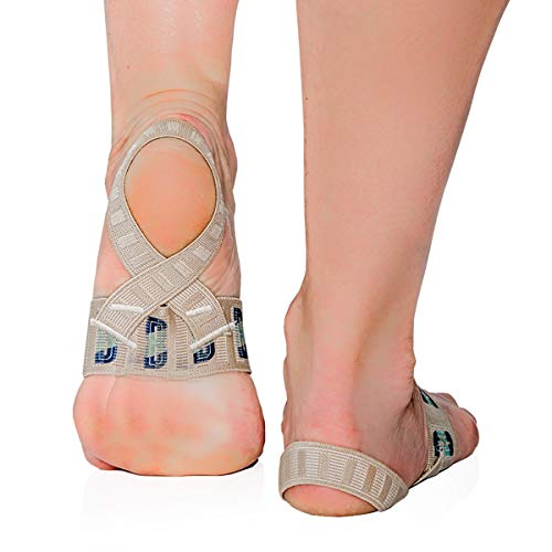 The Original X Brace - Arch Support Brace and Compression for Plantar Fasciitis, Sever's Disease, Flat Feet, Fallen Arches, Over-Pronation and Heel Pain - Small