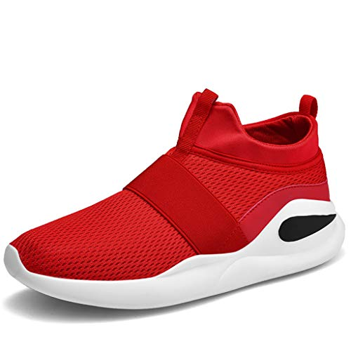 - lkoezi Breathable Sport Light Sneakers, Men Fashion Simple Casual Shoes Comfortable Running Shoes Soild Color