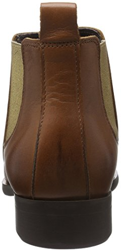 Pieces Women's Psizi Leather Short New CGN Chelsea Boots Brown (Cognac Cognac) YEtMHL6F