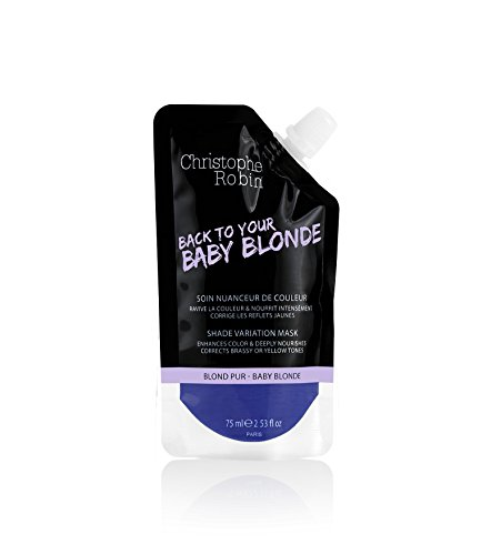 Christophe Robin Nutritive Mask with Temporary Coloring in Baby Blond - 75 - Mask Back