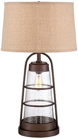 Industrial Lantern Table Lamp With Night Light Amazon Com