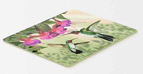 Mat Hummingbird Floor - Caroline's Treasures PTW2051CMT Fuchsia and Hummingbirds Kitchen or Bath Mat, 20 by 30
